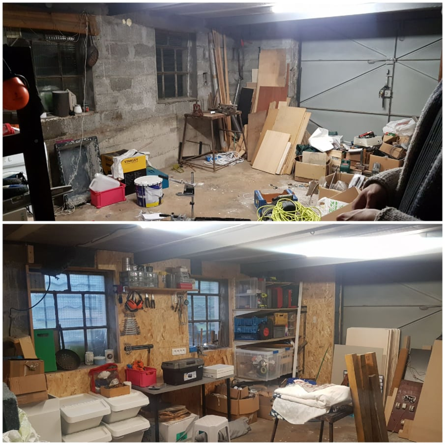 Garage avant/aprés